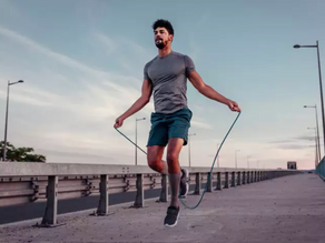 Simple Alternating Foot Jump Rope Exercise