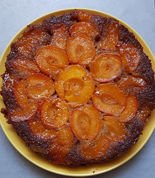 Gâteau soleil aux abricots