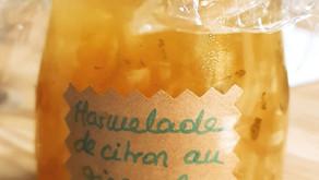 Marmelade de citrons verts et jaunes au gingembre, de la fraîcheur sur les tartines d'été