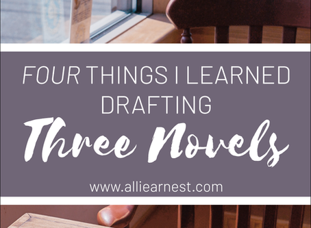 Four Lessons from Drafting Three Novels