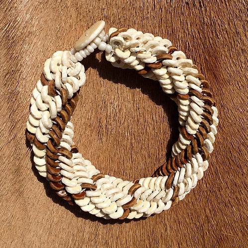 Armband Namibian Roll White Brown