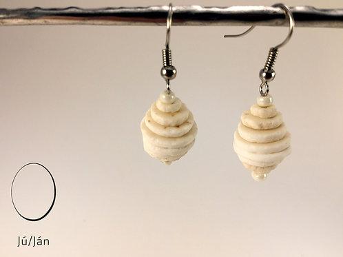 Earrings Honey White