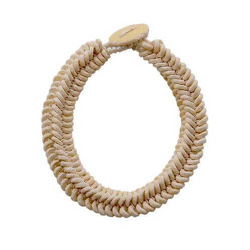 Armband Herringbone White