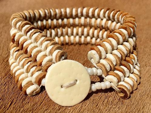 Bracelet 4 Strand Brown