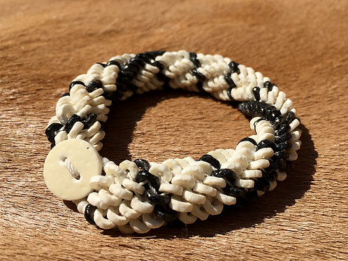 Armband Namibian Roll White Black