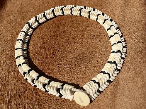 Halsketting Herringbone Ivory/Black