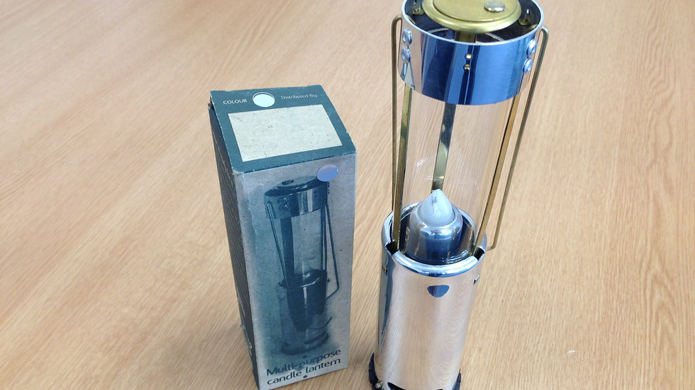 Silver Bushlite Candle Lantern - Ex Stock