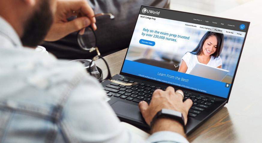UWorld Webpage Redesign