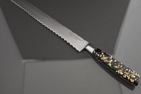 Couteau Génoise 30cm manche résine pailles d'Or et Argent