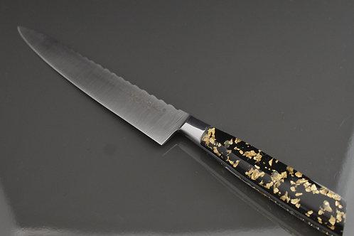 Couteau cuisine 15cm manche résine Pailles d'Or