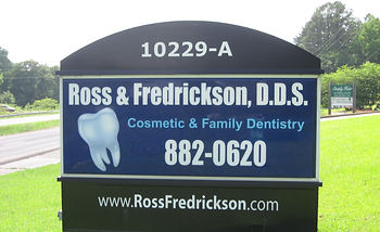 outdoor sign from dental office