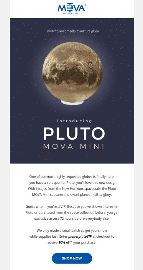 Pluto VIP Launch