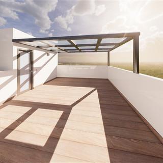 terraza en roof
