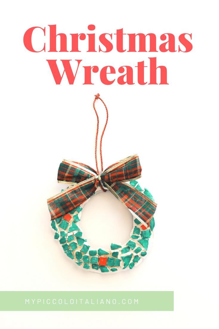 DIY Christmas Wreath Mosaic