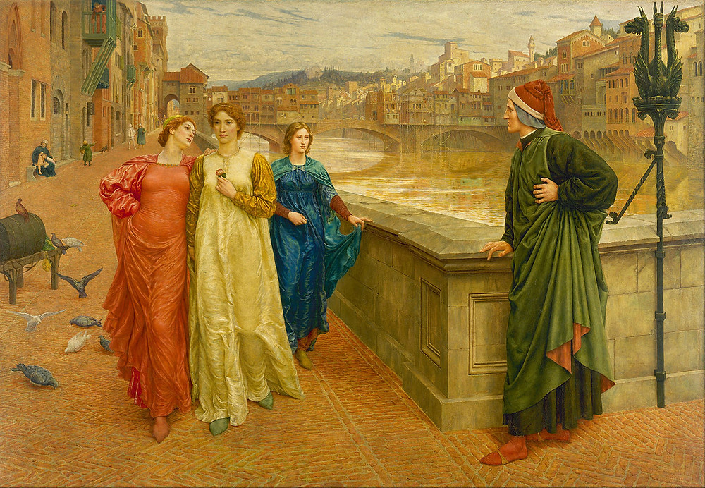 Dante meets Beatrice at Ponte Santa Trinita