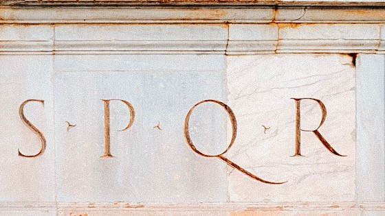 SPQR can be found throughout Rome on utility holes, coats of arms, coins, plaques, and many more places.