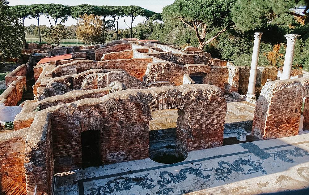 Baths of Neptune in Ostia Antica, mosaic floor decoration