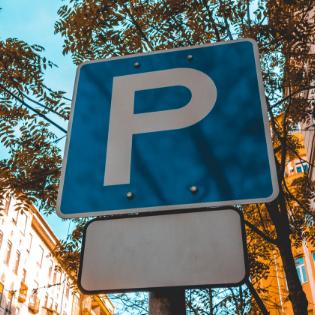 Italian parking sign
