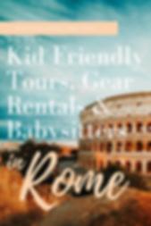 Kid Frienly Tors, Gear Rentals & Babysitters in Rome & Lazio, Italy