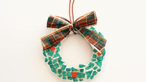 How to Make a Christmas Wreath Mosaic