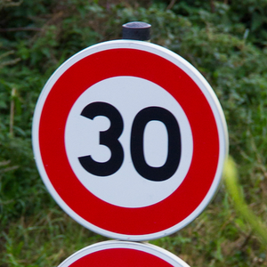 Italian road sign speed limit