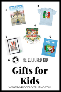 Italophile gifts for kids: gifts for someone who loves Italy