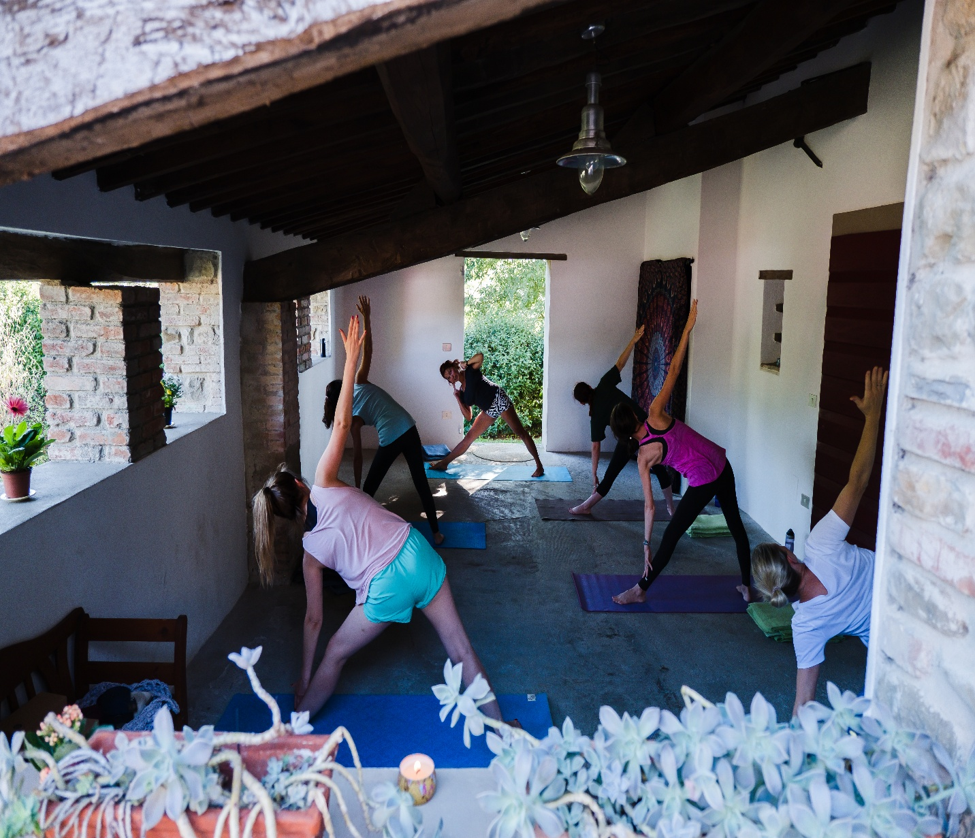 Yoga class in Tuscany for Moms