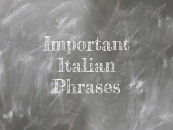 Important Italian Phrases for Travel with Kids