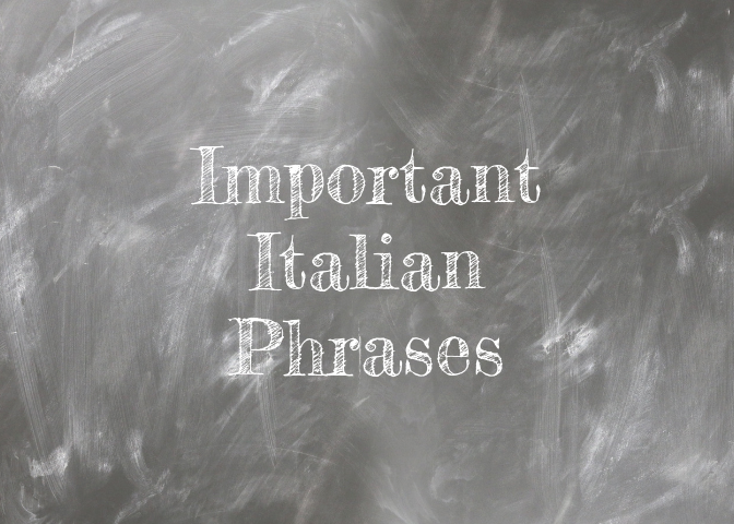 Important Italian phrases for traveling to Italy with Kids