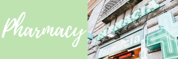 Important Italian phrases for traveling to Italy with Kids; Pharmacy