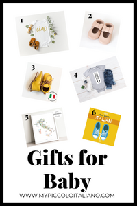 Italophile gifts for baby: gifts for someone who loves Italy