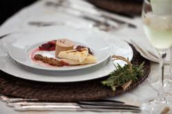 Beautiful foie gras starter