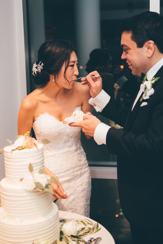 Feeding Wedding Cake
