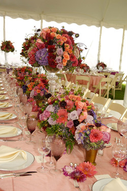 Tablescape wedding flowers