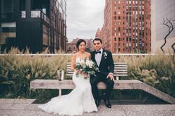 Bride and Groom on Highline