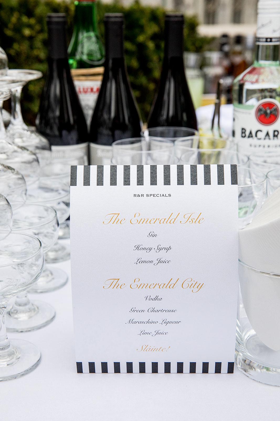Wedding Specialty Drinks