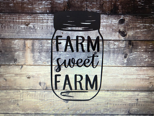 Farm Sweet Farm Decal
