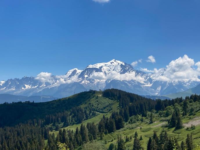 Col du Jaillet vue Mont Blanc
