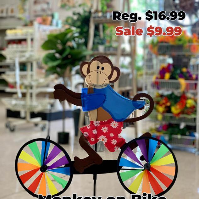 Monkey on Bike Wind Spinner.JPG