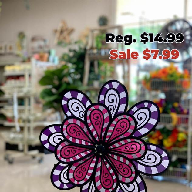 Pink Purple Flower Wind Spinner.JPG