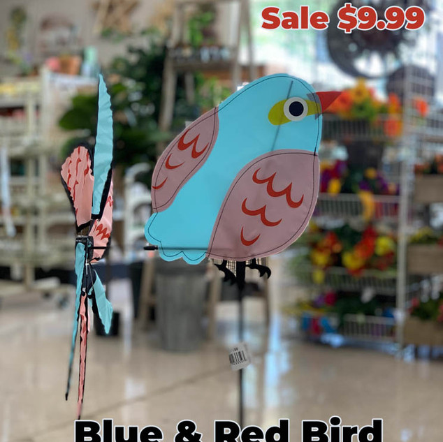 Blue and Red Bird Wind Spinner.JPG