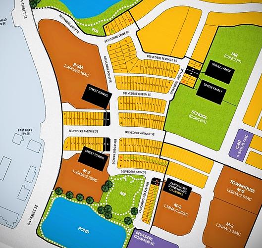 Belvedere Lot Map Sales Centre Open
