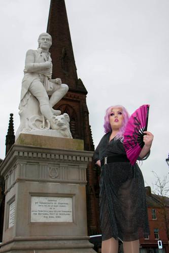 Burns Statue, Dumfries