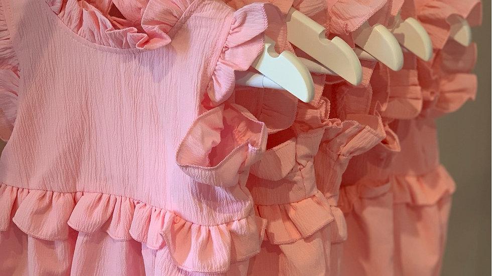 Elsie Frill X Romper Pink