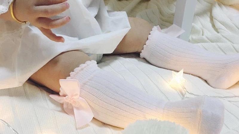 Bowbelle Socks X BABY PINK