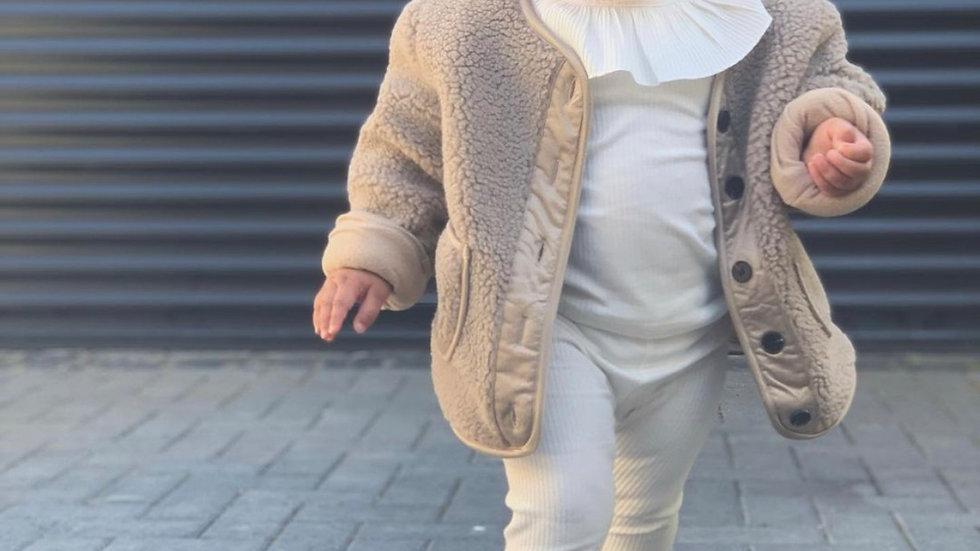 Peanut X Butter Woolen coat (UNISEX)