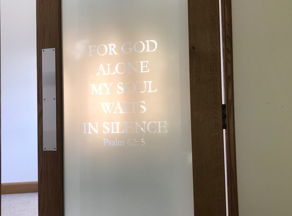 2 Psalm verse on door to Resurrection Ch