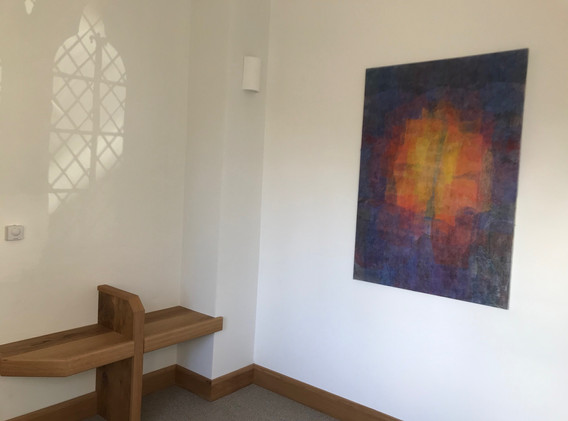 4 Béranger artwork and prayer bench, pho