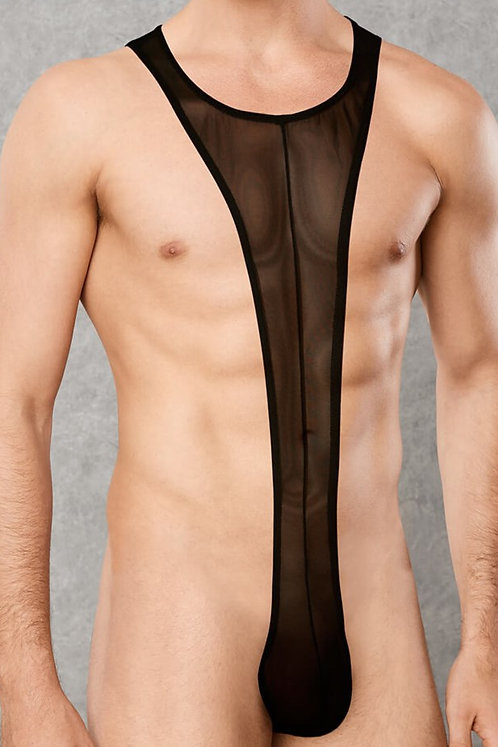 Body Transparent Noir - Taille S