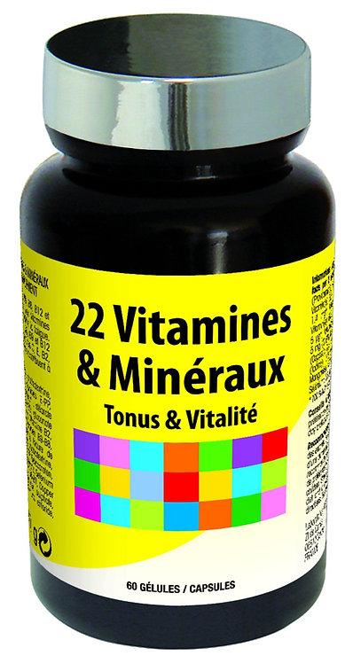 22 Vitamines et Minéraux 60 Gélules